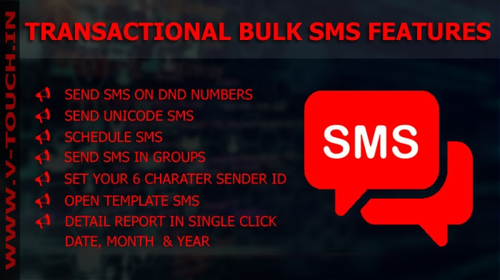 FEATURES OF TRANSACTIONAL SMS SERVICE in Kolkata